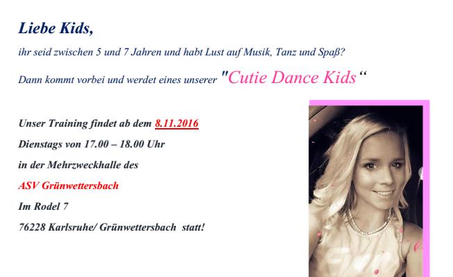 Kinder tanzen in Grünwettersbach